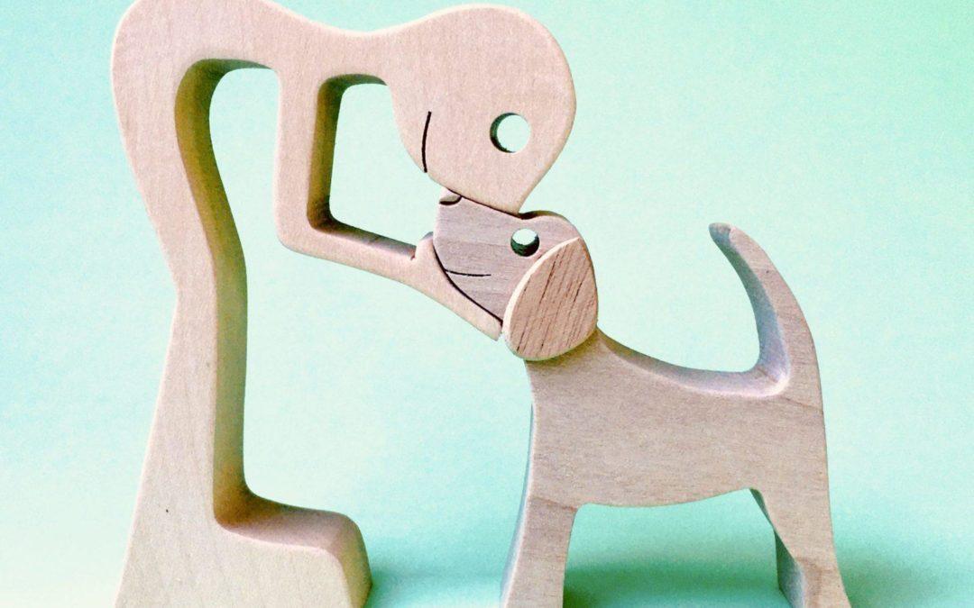 un homme un beagle